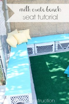 milk crate upcycle seating - Google Search