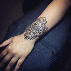Pretty Mandala Tattoo On Wrist