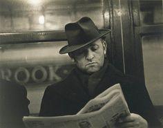 Walker Evans, Subway Portrait, c. 1938-41