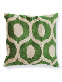 This unique pattern of kelly green will be the perfect statement to your sofa.