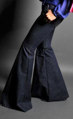 Wide Leg Bell Bottom Pant by kinizamora on Etsy