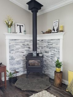 Wonderful Totally Free Wood Stove remodel Style Although timber is the most eco-friendly heating system technique, this in no way is very much outlined in fed. Wood Stove Decor, Wood Stove Wall, Wood Burning Stove Corner, Wood Stove Surround, Wood Stove Hearth, Corner Stove, Stove Fireplace, Wood Fireplace, Wood Burner