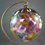 Hand-blown glass ornament