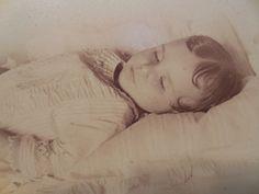 Rare 1886 Post Mortem Cabinet Card Photo W Memoriam Book Edith Speiden Kentucky