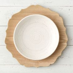 Decorative Woodgrain Charger #anthroregistry
