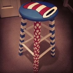 DIY Dr. Seuss stool perfect for my classroom