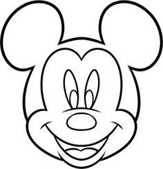 mouse mickey draw drawings dawn easy drawing head step disney crafts