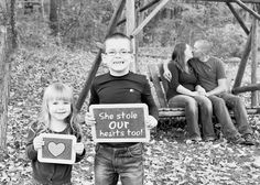 What a way to start as a stepmom. Nice engagement shot!