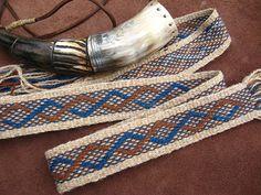 Powder Horn Strap by ASpinnerWeaver, via Flickr #inkle weaving