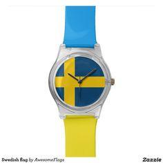 Swedish flag wristwatch