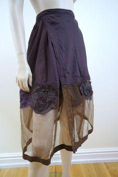 CALYPSO Designer Purple Authentic Parachute Floral Skirt by Debbi Little -1 Size | eBay