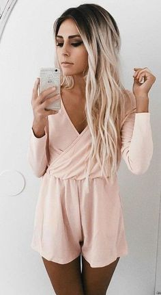 #summer #ultimate #outfits |  Wrap Blush Playsuit