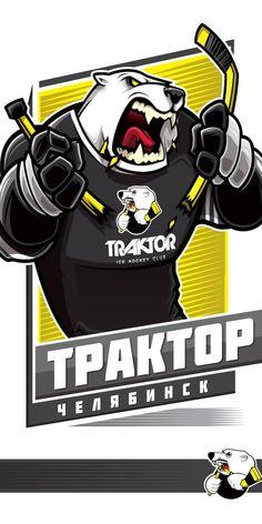Traktor Chelyabinsk #KHL Nhl Logos, Hockey Logos, Sports Logos, Ilya Kovalchuk, Hockey World, Nfl, Bear Logo, Atlanta Falcons, Portfolio
