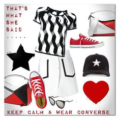"""""""KEEP CALM & WEAR CONVERSE"""" by deneve ❤ liked on Polyvore featuring Loewe, Kenzo, Converse, rag & bone, Fendi, Gents, converse and summerstyle"""