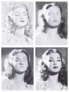 Andrew Loomis,one of my favorite book authors on art,drawing techniques. Andrew Loomis, Painting Process, Painting & Drawing, Drawing Process, Book Drawing, Art Sketches, Art Drawings, Photographie Portrait Inspiration, Arte Sketchbook