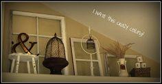 ledge decorating ideas - love the windows