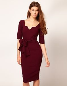 Enlarge Hybrid Key Hole Neck 3/4 Sleeve Dress-from ASOS...saw the website in Vogue-really good deals for the styles