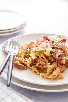 Penne Pasta, Kip Bacon, I Want To Eat, Pasta Recipes, Macaroni, Spaghetti, Food And Drink, Dishes, Chicken