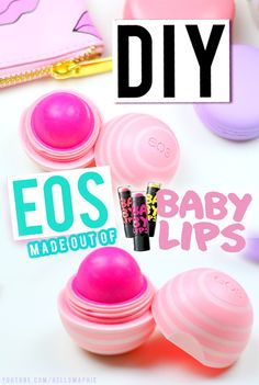 DIY EOS Refill using Maybelline BABY LIPS!! EXTREMELY EASY to do, you can make your OWN EOS refill with the PERFECT DOME SHAPE like a real EOS!! GENIUS! Why Didn't I Think of That Before?!