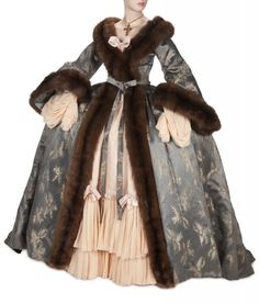 Costume designed by Adrian for Norma Shearer in Marie Antoinette (1938/)