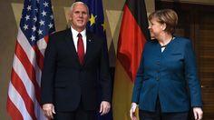 Trump hosts Merkel after snowstorm delayRead full details