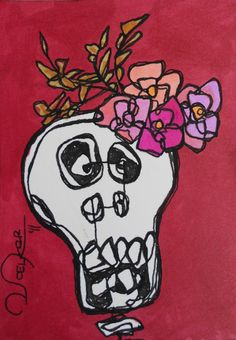 Day of the Dead (make a contour line design)?