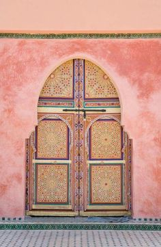 Oh how I miss you Morocco. Morocco, Marrakesh, Decorated Arched Door Stock Photos / Pictures / Photography / Royalty Free Images at Inmagine Berber, Marrakesh, Marrakech Morocco, Moroccan Style, Moroccan Art, Doorway, Islamic Art, Windows And Doors, Beautiful Places