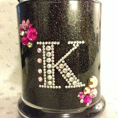 Shop for on Etsy, the place to express your creativity through the buying and selling of handmade and vintage goods. Glitter Glasses, Glitter Mason Jars, Mason Jar Diy, Glitter Makeup, Makeup Jars, Diy Makeup, Makeup Brushes, Diy And Crafts, Crafts For Kids