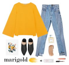 """Marigold"" by ayu-imskal ❤ liked on Polyvore featuring Alxvndra, STELLA McCARTNEY, Vera Wang, Fresh, trend, SpringStyle, contestentry, polyvorefashion and marigold"
