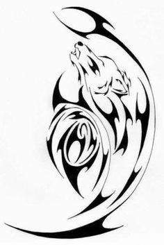 Awesome tribal wolf tattoo for men Tribal Rose Tattoos, Tribal Wolf Tattoo, Wolf Tattoo Design, Wolf Tattoos, Skull Tattoos, Body Art Tattoos, Tattoo Drawings, Tatoos, Eagle Tattoos
