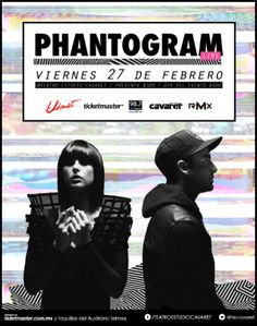 Phantogram el 27 de febrero en Guadalajara