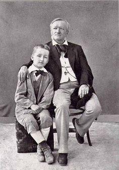 Richard Wagner with his son Siegfried ( photo circa 1880).