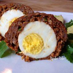 Spicy Chorizo Scotch Eggs   popularpaleo.com