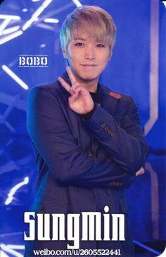 Blue world photo card - Sungmin