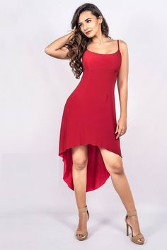 New Stylish Red Dresses Design for Women Cute Casual Dresses, Day Dresses, Designer Dresses, High Low, Stylish, Red, Women, Fashion, Moda