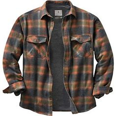 Men's Archer Thermal Lined Flannel Shirt Jacket | Legendary Whitetails