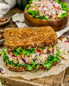 When you need an easy, flavorful, and healthy recipe that is easy to prepare and requires no cooking, look no further than our tasty Harvest Chickpea Salad; Veggie Recipes, Whole Food Recipes, Vegetarian Recipes, Cooking Recipes, Healthy Recipes, Vegetarian Sandwiches, Healthy Breakfasts, Healthy Meals, Beef Recipes