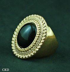 Maxi anel com pedra onix!! www.ckdsemijoias.com.br