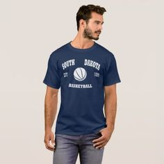 #school - #South Dakota Basketball Retro Logo T-Shirt