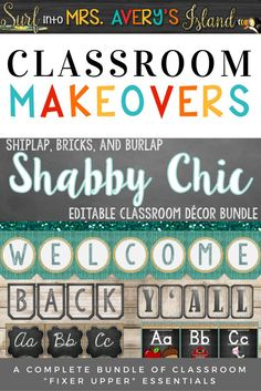 "This editable Shabby Chic classroom organization and decor bundle is guaranteed to make a statement on any school campus!  Teachers... welcome your students back to school this fall by doing a classroom ""Fixer Upper"".  Fall back in love with your classroom by clicking this link to check out the preview and see what other teachers have to say!  There's no doubt Chip and Joanna would put their seal of approval on this Classroom Fixer Upper bundle!"