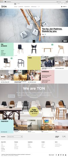 Web design inspiration Why I love it: grid layout, flat design, mega footer Website Design Inspiration, Graphic Design Inspiration, Gui Interface, Interface Design, Web Layout, Layout Design, Packaging Inspiration, Responsive Layout, Ui Web