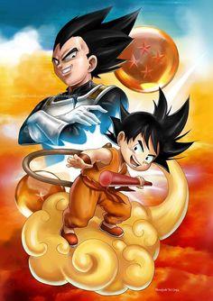 Vegeta x Goku, Blondynki Też Grają on ArtStation at https://www.artstation.com/artwork/ldQlV