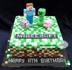 Looking for cake decorating project inspiration? Check out Minecraft Cake by member RoseDreamCakes.