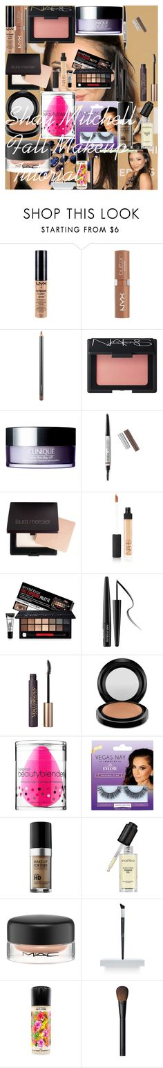 """Shay Mitchell Fall Makeup Tutorial"" by oroartye-1 on Polyvore featuring beauty, NYX, MAC Cosmetics, NARS Cosmetics, Clinique, Laura Mercier, Smashbox, MAKE UP FOR EVER, L'Oréal Paris and beautyblender"