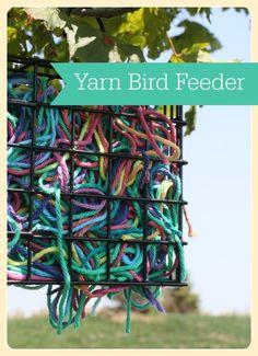 This yarn bird feede
