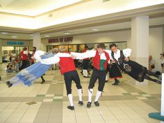 """Stoughton Dancers performing """"Bitte Mand I Knibe"""" (in English, """"Little Man in a Fix"""")...I used to do this dance with my leikarringen group. :D"""
