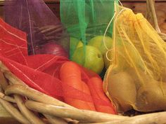 Reusable produce bags- what's the point of bringing shopping bags if you're just going to fill them with plastic?