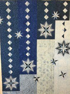 """Ice Crystals"" a Judy Niemeyer pattern by CI Nancy Strath class fall 2015 at www.bowbench.com"