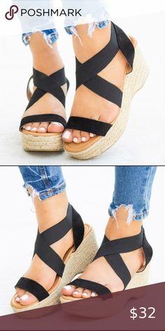 Ella Pearl Womens Elasticated Back Strap Wedge Summer Soft Footbed Sandal