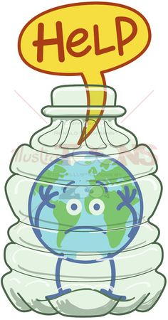 Planet Earth trapped inside a plastic bottle asking for help - illustratoons Any ideas about how to free our planet Earth from the plastic trap? Save Planet Earth, Save Our Earth, Earth Day, Save The Planet, Planet Drawing, Earth Drawings, Save Environment Posters, Save Earth Drawing, Save Water Poster Drawing